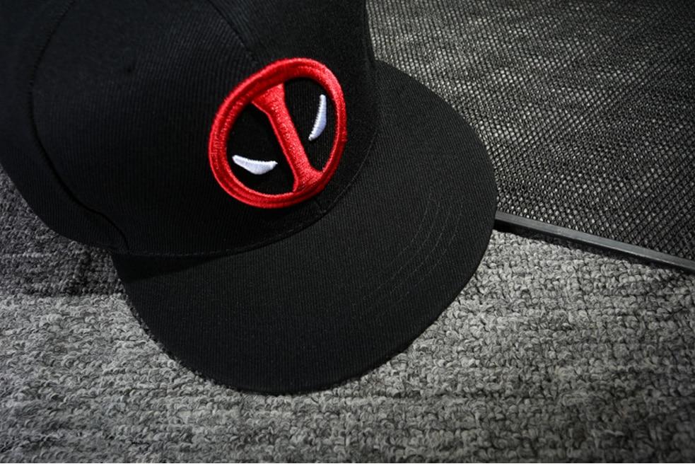 Anime Deadpool Embroidery Hip Hop Snapback Hat Cotton Casual Flat Baseball Cap For Men Women Gorras Casual Bone Birthday Gift