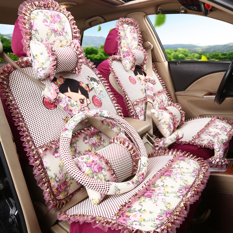 2018 summer Floral car seat cover set protection of auto seats universal 5 seats cute cartoon women goods gift high quality mcd200 16io1 [west] quality goods page 5