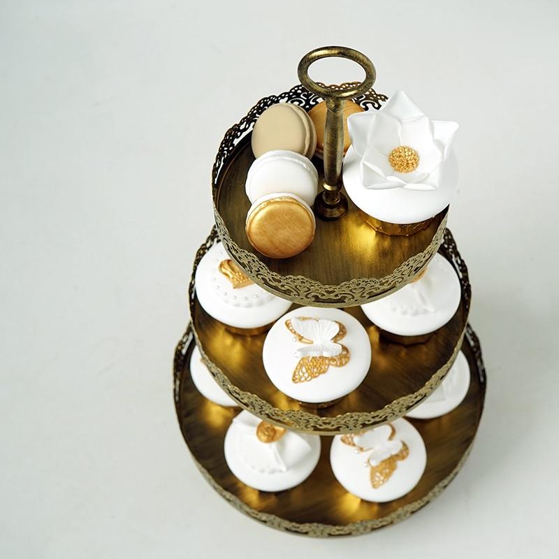 SWEETGO 3 pillə Cupcake stend üçün şirniyyat masası - Mətbəx, yemək otağı və barı - Fotoqrafiya 4
