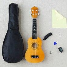 Дешевые 21 дюймов Woodiness Uicker в Начинающий полный оборудования небольшой гитара школа учебные пособия музыкальный инструмент инструменты WJ-JX1