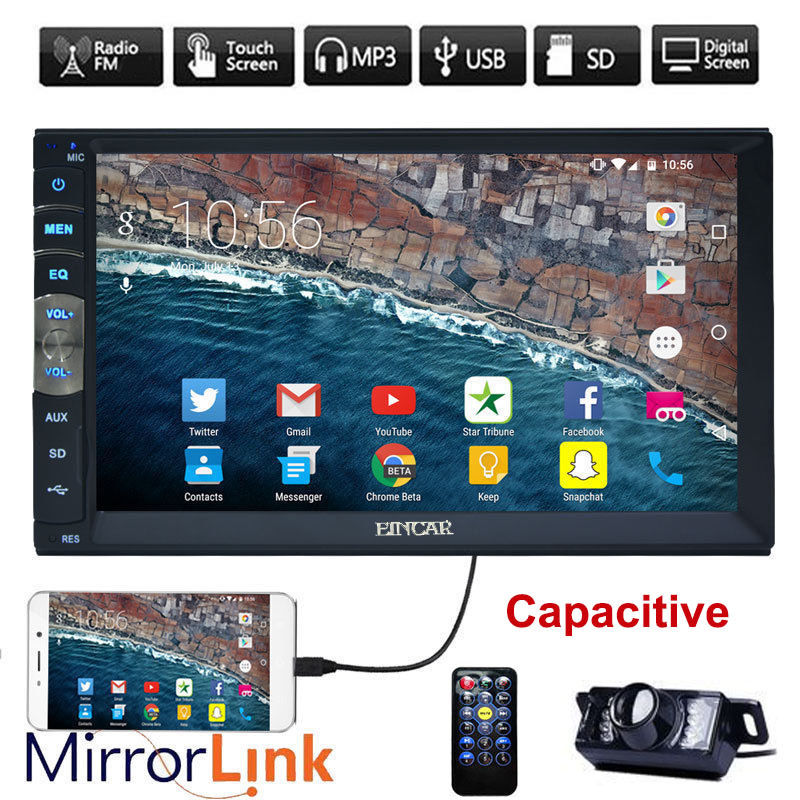 7 Inch Double 2 DIN Car MP5 Player Mirror Link FM Touch Radio USB NO DVD player car radip stereo in dash headunit+Backup CAMERA reakosound 7 inch lcd hd double din car in dash touch screen bluetooth car stereo fm mp5 radio player