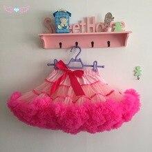 Однотонная и разноцветная многослойная пикантная шифоновая юбка-пачка для девочек и взрослых; Женская юбка-американка; женские вечерние юбки-пачки