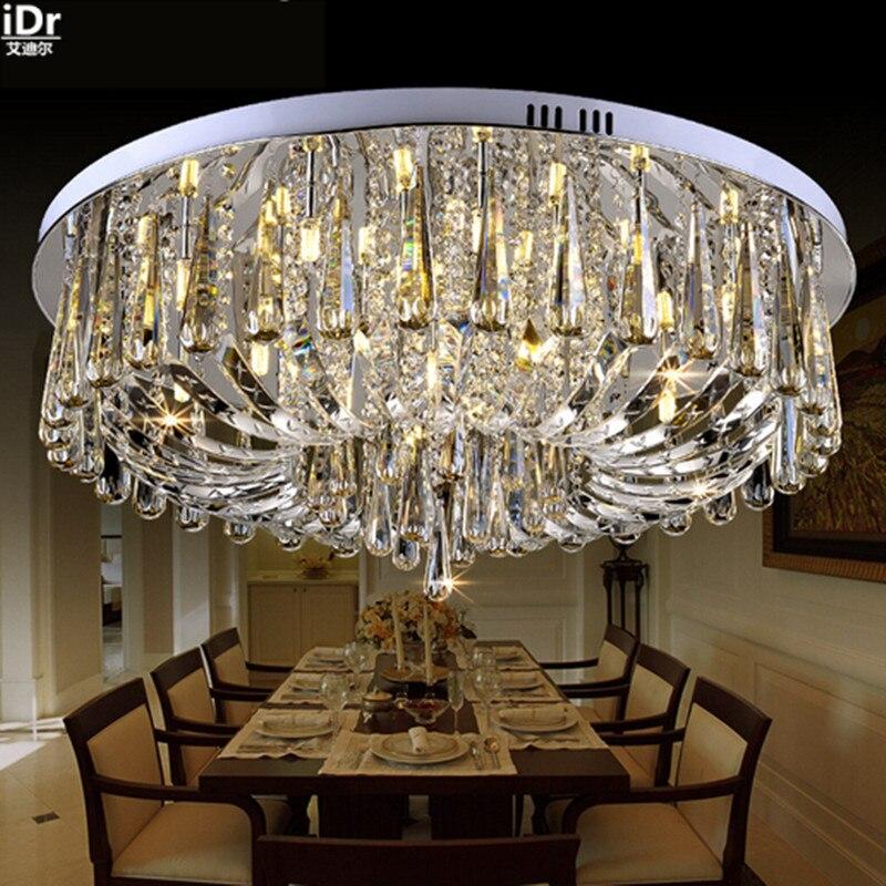 US $298.0 50% OFF|Vintage luxus kristall kreis wohnzimmer lampe restaurant  schlafzimmer lampe LED lampen Hotel Beleuchtung Deckenleuchten Dia800mm-in  ...