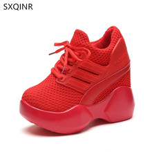 Women Shoes 2018 Fashion Breathable High Heels Ladies Casual vulcanize Platform Female Chaussure