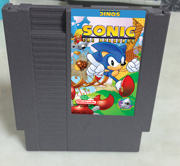 New arrival 72 pins 8 bit game cartridge free shipping — Sonic The hedgehog