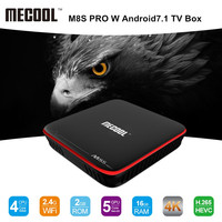 MECOOL M8S PRO W Android 7 1 TV Box Amlogic S905W CPU Quad Core 2GB RAM
