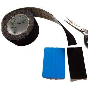 Image 4 - Raclette demballage en Film vinylique de voiture, consommable, 5cm/rouleau, bord en feutre, tissu noir, 3M, feutre de rechange, A08 5M