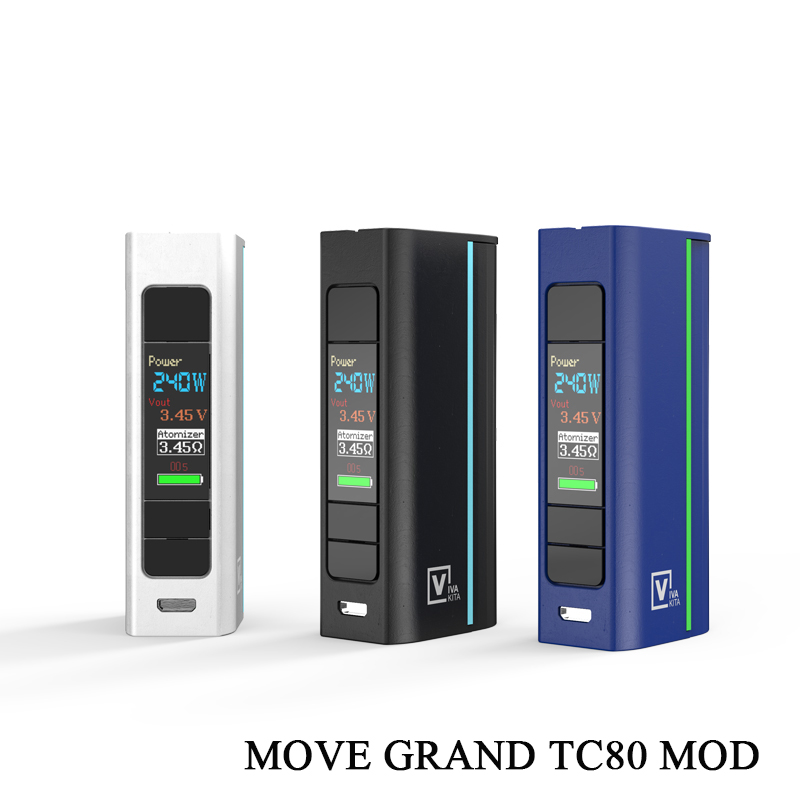 Vape Mod Electronic Cigarette Move Grand 80W Box Mod Fit Atomizer <font><b>510</b></font> Thread single 18650 <font><b>Battery</b></font> e cigarettes mod vape image