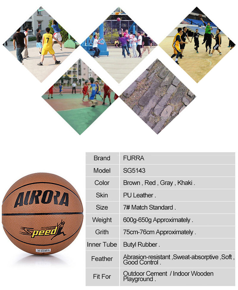 FURRA Professional Standard Basketball Abrasion-Resistant PU Skin Durable Butyl Tube Basketball for Adult Match Trainning SPEED (6)