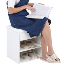 Home Entryway Hallway Shoe Bench Wooden Shoes Storage Organizer Cabinet Padded Seat(China)
