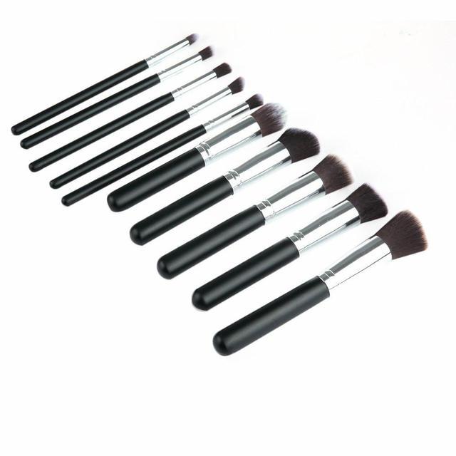 Pinceles de Maquillaje de alta Calidad 10 unids Líquido de Maquillaje Cosméticos Fundación Blending Brush Set 2016 Gamiss Moda Belleza Cosméticos