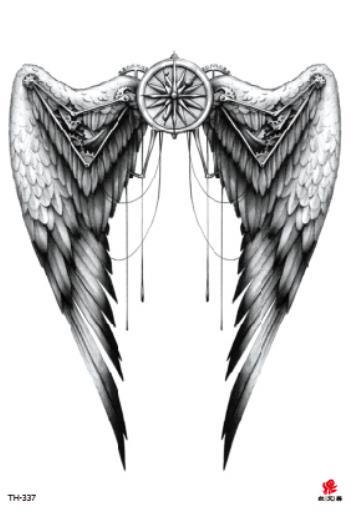 Temporary Tatoo Fake Tattoo Sticker Wings Back Arm Tattoos Stickers Tatouage Waterproof Flash Tatto For Men Women Girl
