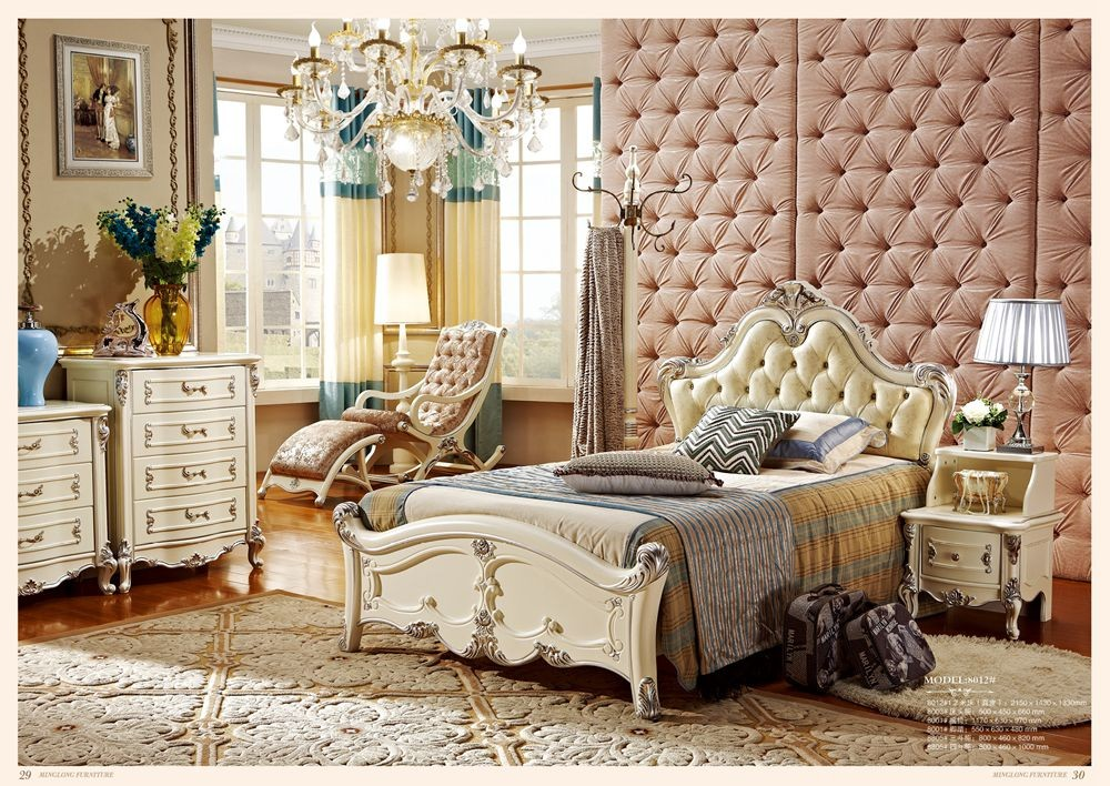 US $2033.0 |2016 New Arrival New 5 Pieces European Style Bedroom Furniture  Sets Included Bed + Cabinet Nightstand Dresser Dressing Stool-in Bedroom ...