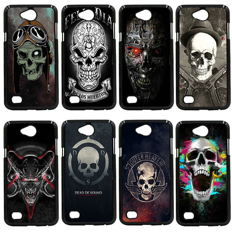 Phone Case Cases Dead De Sound Skull Hard PC Black Cover for LG L Prime G2 G4 G5 G6 G7 K4 K8 K10 V20 V30 2017 Nexus 5 6 5X Pixel