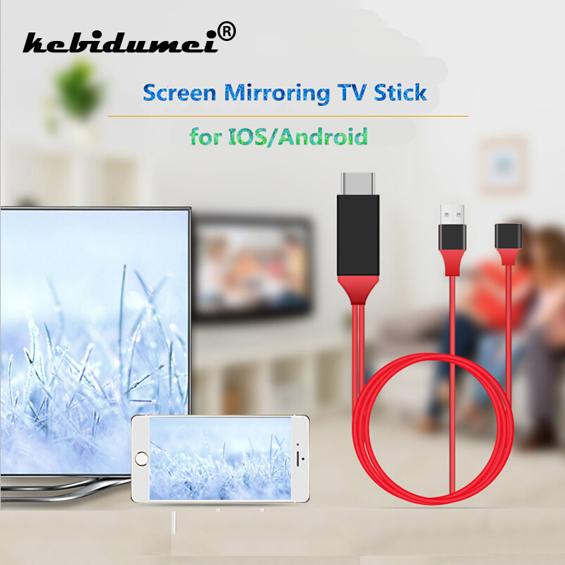 Angemessen Kebidumei Weiblichen Zu Männlichen Hd 1080 P Usb Zu Hdmi Mit Usb Power 1 M Verdrahtet Tv Stick Mirroring Bildschirm Für Ios Für Android Kabel Gemeinsame Schnelle Farbe