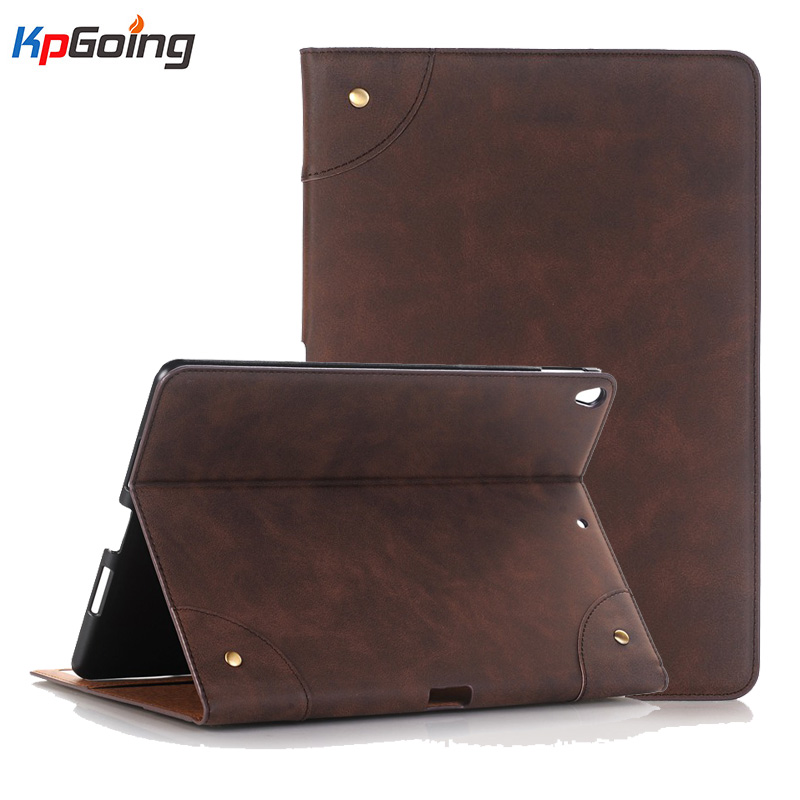 KpGoing Vintage Leather Case For iPad Pro 10.5 inch 2017 Ultra Thin Slim Flip Smart Cover Case For New iPad Pro 10.5 Coque Funda leather case flip cover for letv leeco le 2 le 2 pro black