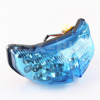 LED Tail Light Taillight Turn Signal Lamp For Yamaha FZ1 FZ8 2006-2012 07 08 09 10 11 Blue Motorcycle Parts!