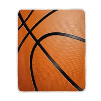 Close up of Basketball Ball Blanket Soft Warm Cozy Bed Couch Lightweight Polyester Microfiber Blanket Throw