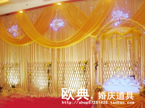 Wedding Backdrop for Wedding Decoration Wedding Drape and Curtain with Detachable Swag,Pipe and Drape For Wedding