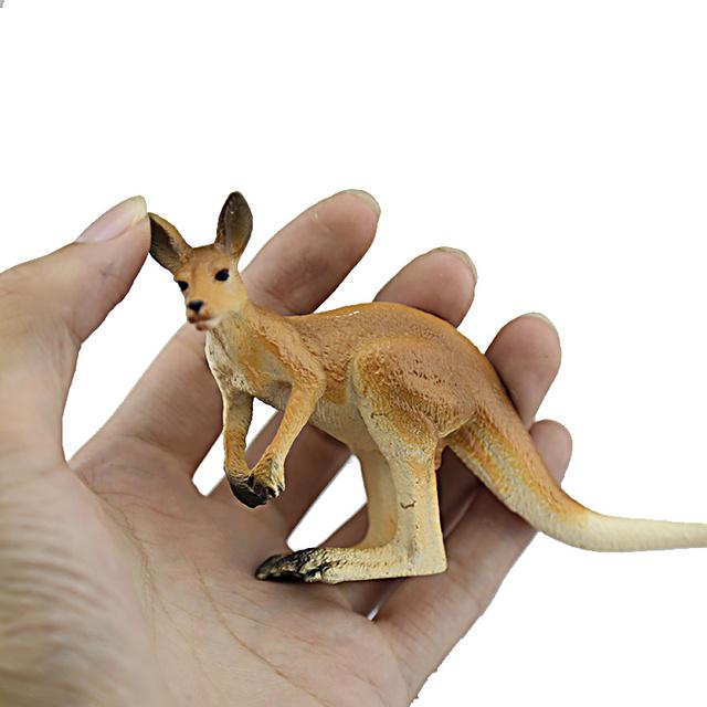 Imitacja zwierzęcia Model żyrafa kangur Elk renifer rysunek realistyczne roślinożerne zwierząt pcv kolekcjonerskie zabawki świąteczne prezenty dla dzieci