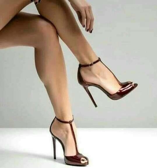 Concise Elegante T Strap Salto Alto Bombas Dedo Do Pé Redondo Plataforma Vestido Sapatos Aumento da Altura do Tornozelo Fivela T Bar Sexy Preto calçado - 5