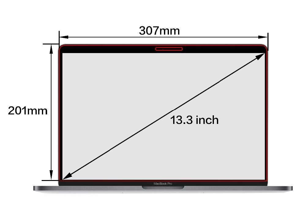 شاشة كاملة شاشات مرشح الخصوصية طبقة رقيقة واقية ل ماك بوك الشبكية 13 بوصة 2012-2015 محمول نموذج A1502 A1425 (307 مللي متر * 201 مللي متر)