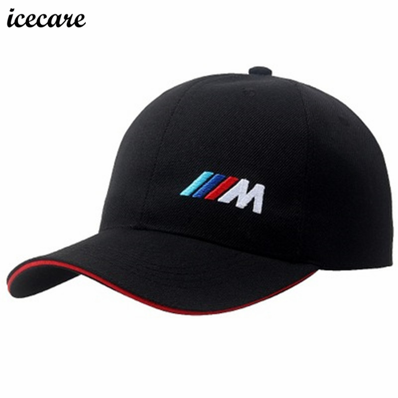 Icecare Coton M Emblème Casquette de baseball Chapeau Pour Bmw E39 E90 E60 E36 F30 F10 X5 E53 E34 F20 M M3 M5 M Performance Chapeau De Voiture Stlying