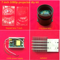 Hot Selling HD 1080p 1080 1920 LED Projector Projection Diy Kit 200W 200W Power Supply Fresnel