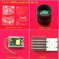 Venda quente HD 1080 p 1080*1920 7 polegada LEVOU projetor/projeção diy kit 150 W/200 W lente fresnel de alimentação do ventilador do radiador