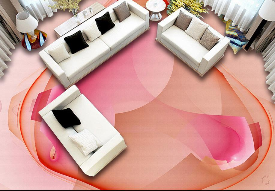 fashion vinyl flooring 3d mural wallpaper flowers floor 3d living ...