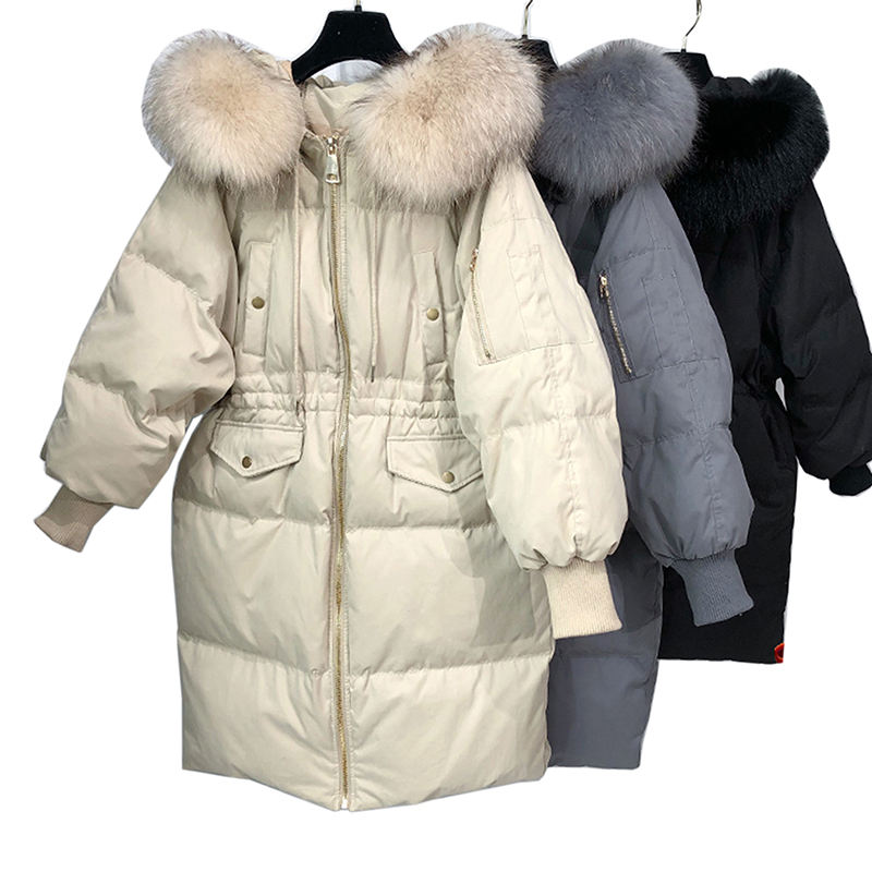 90% White Duck   Down     Coats   2018 Fashion Long Womens   Down   Jackets Plus Size Thicken Winter Jacket Women Slim   Coat   Casacos Feminino