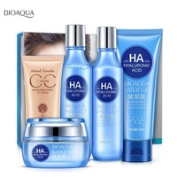Bioaqua Skin Care Set Hyaluronic acid Face Cream Facial Cleanser Toner Lotion BB Cream Anti Wrinkle Anti Aging Skin Care Product