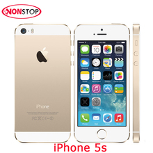 Sbloccato iPhone 5 s 16 GB 32 GB 64 GB ROM IOS Utilizzato Apple iPhone bianco Nero Oro GPRS GPS IPS Smartphone LTE Telefono Cellulare iPhone 5 s(China)