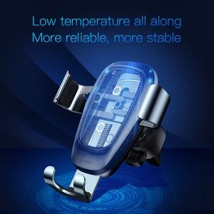 Image 3 - Baseus Qi kablosuz araç şarj cihazı iPhone 11 Pro Xs Max X 10w hızlı araba kablosuz şarj tutucu xiaomi Mi 9 Samsung S10 S9