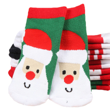 Terry Cartoon Baby Socks Winter Thick Cotton Socks for Girls Fashion Children Gi