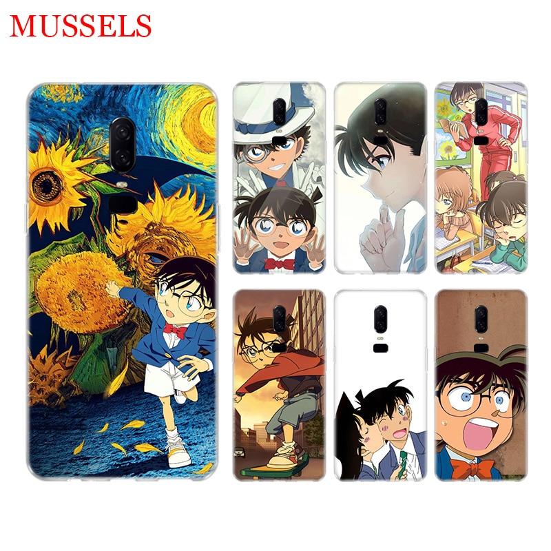 Anime Detective Conan Phone Back Case for font b OnePlus b font font b 7 b