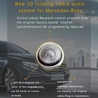 Car styling Door Speaker Design Interior Mouldings Decoration 3D rotating speaker for Mercedes Benz S CLASS W222 (2016 2017)