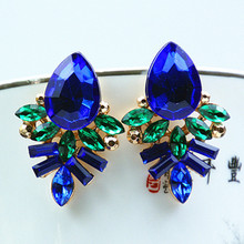 Sapphire eardrop Jewelry Fashion Stud Earrings Inlay Vintage Fine Drop Dangle For Women New
