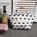 Free Shipping Casual Oxford Small Cooler Bags White Color with Cat Pattern Women Handbags Shoulder Bags Cooler Bag HL050