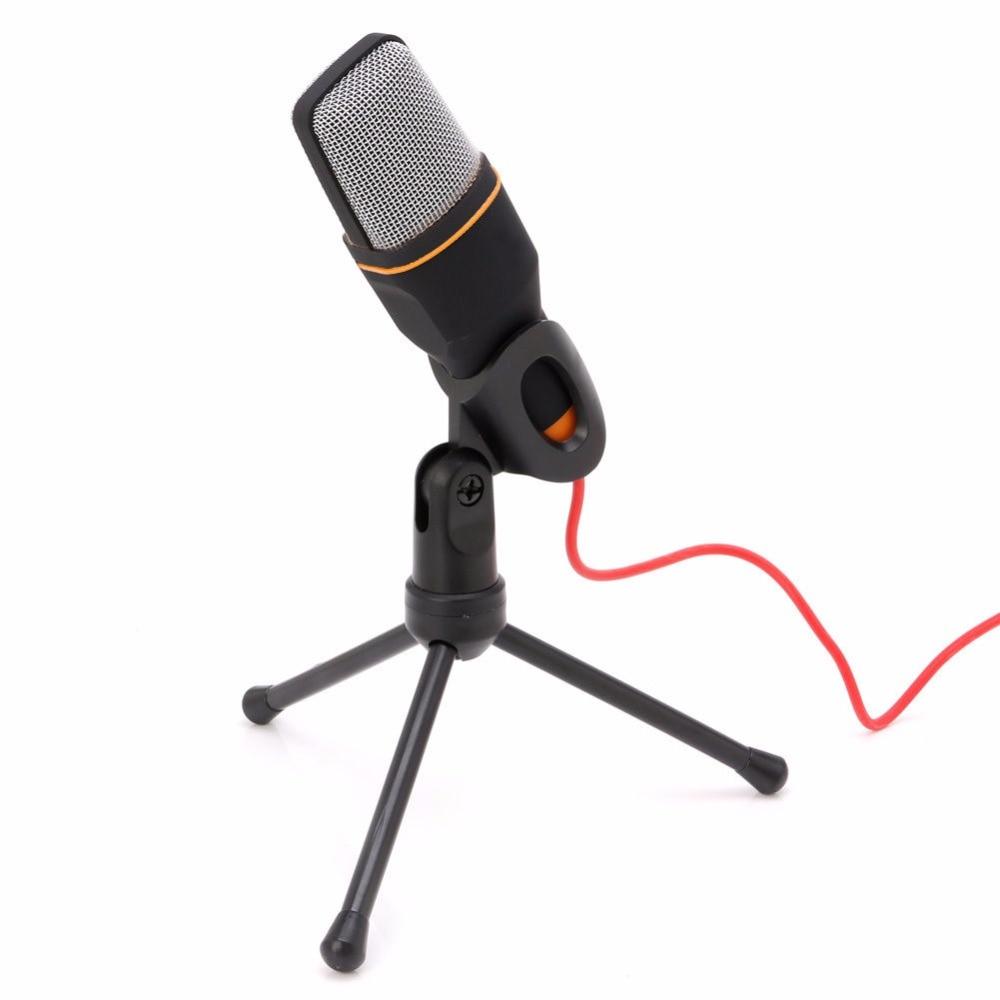 OOTDTY Mini Mikrofon Mikrofon Microphone Studio+Desktop Stand + USB Cable For PC Laptop