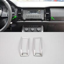 Auto accessories middle air vent cover 2pcs Car Styling accessories For 2017 SKODA KODIAQ auto accessories middle air vent cover 2pcs car styling accessories for 2017 skoda kodiaq