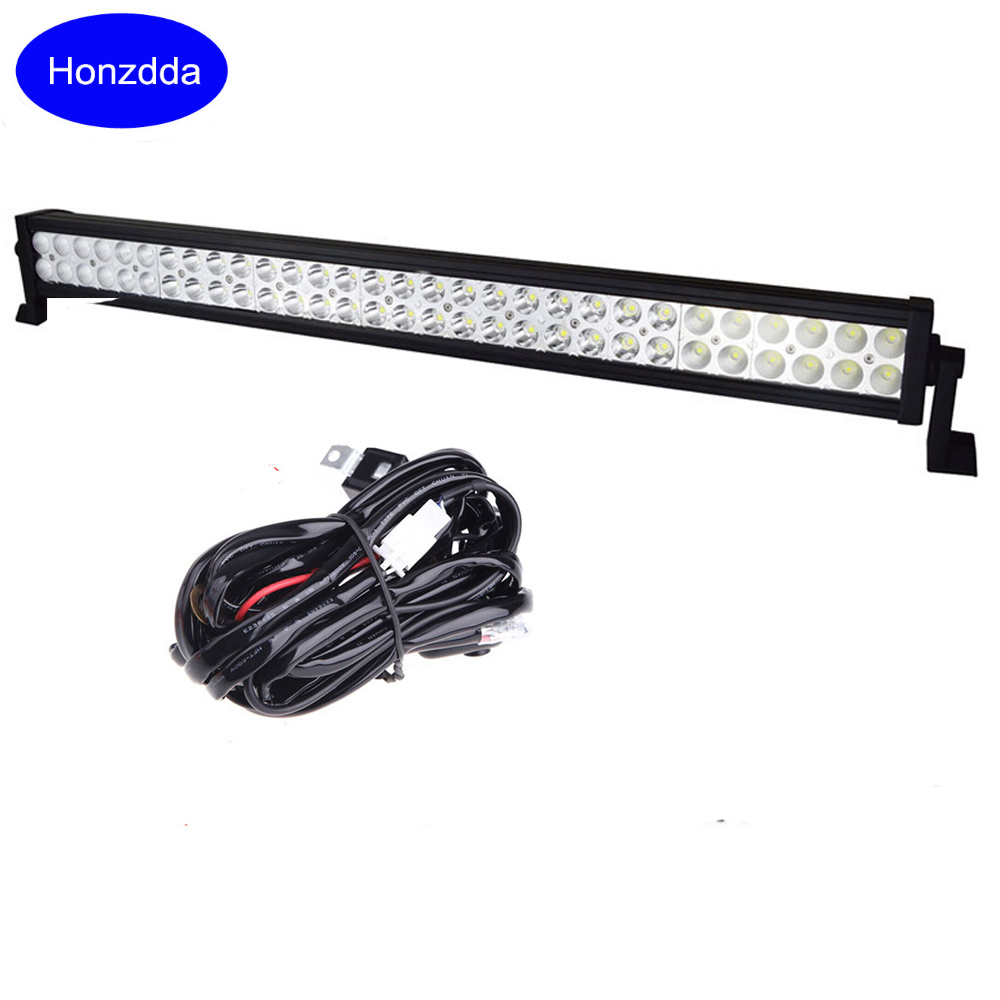 32 Inch 180W Combo Beam Offroad Led Work Light Bar for 4x4 trucks tractor 4wd ATV Waterproof Off Road Light Bar 12V Wire Harness 2016 rushed promotion 4d osram 44 inch 480w led light bar offroad combo beam work lamp 12v for trucks suv atv 4x4 external