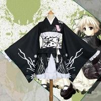 Japanese kimono traditional girls Geisha girl cosplay sexy bathhouse womens females suits cosplay Kasugano Sora cos Costume