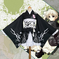 Japanese kimono traditional girls Geisha girl cosplay sexy bathhouse womens females suits cosplay Kasugano Sora cos Costume