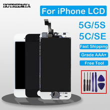 ecran Grade AAA Full Assembly Display For iPhone 5S 5 5C SE LCD Screen For iPhone 6 Display Digitizer Touch Screen No Dead Pixel 100% brand new no dead pixel screen for iphone 5 5s 5c lcd display touch screen digitizer assembly replacement black and white