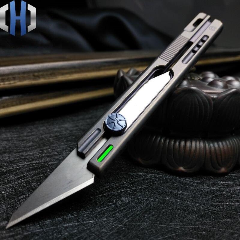 Alliage de titane Couteau de Lumière Coupe Papier Peint Express Boîte Ouvre Coupe Démolition Enveloppe Gravure Grand EDC