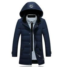 Men Coat Coat Quilted Jacket Fashion Leisure Hooded Solid + Size Long Warm Clothes