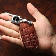 Aeing Топ Слои кожа ключ чехол держатель для ключей брелок для Dodge для автомобиля Jeep Compass Patriot Renegade, Wrangler Cherokee