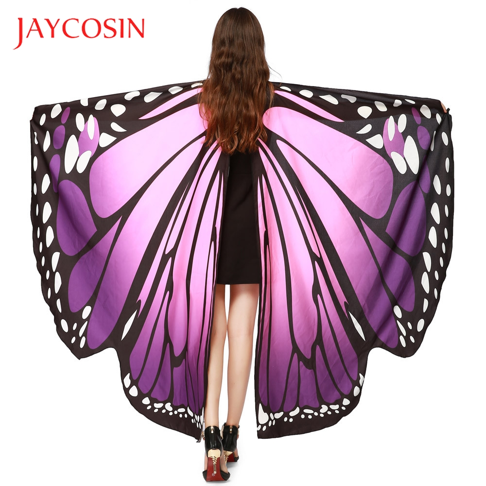 JAYCOSIN Butterfly Wings Women  Shawl Scarves Ladies Nymph Pixie Poncho Costume Accessory High Quality And Fashion Polyester