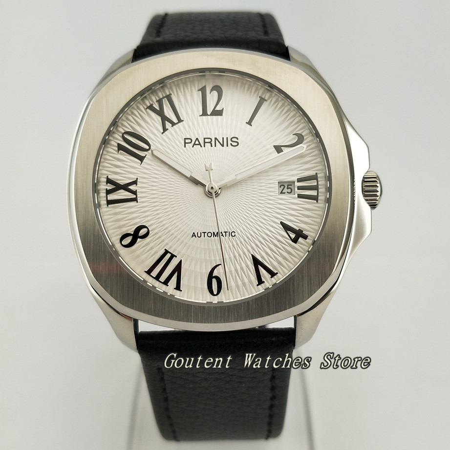 39mm Parnis SS Case Sapphire 21 jewels Miyota 8215 Automatic Men s Watch